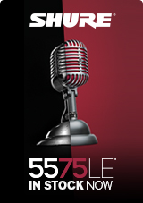 Shure 5575LE Unidyne Limited Edition 75th Anniversary Dynamic Mic
