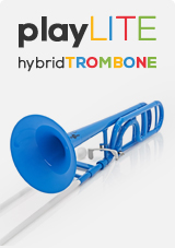 playLITE Hybrid Trombone by Gear4music, Blue